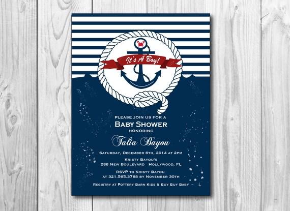 nautical baby shower theme invitation printable shower themed invite