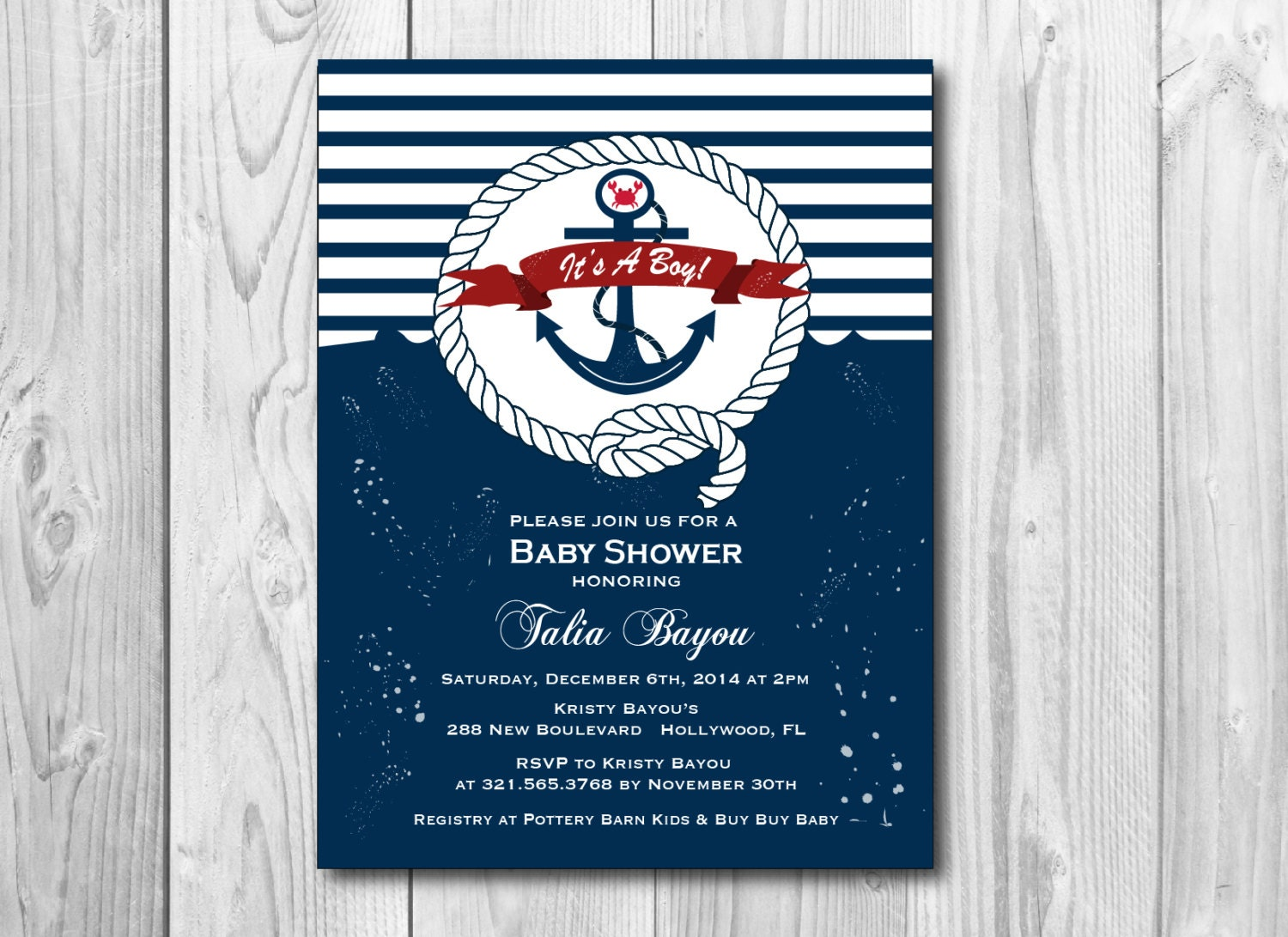 nautical baby shower theme invitation printable shower