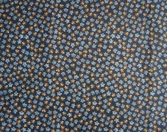 Black Calico Fabric -Black Gray & Brown - Heide Beth Design - Quilters Cotton - Price per Yard