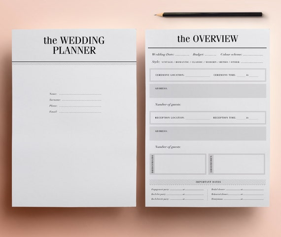 Wedding Planner Printable Ultimate Printable Wedding