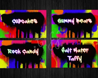 Graffiti Candy Table Labels (Printable)