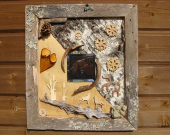 Nordic motifs in weathered frame