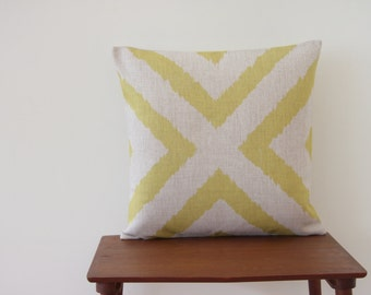 """18""""x18"""" Yelow Cross Decorative Pillow Cover Geometric Pattern Cushion Cover Throw Cushion Cover #73"""