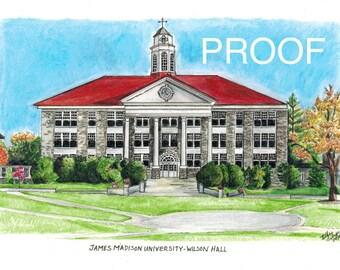 James Madison University - Wilson Hall Color Print AVAILABLE NOV. 1, 2014
