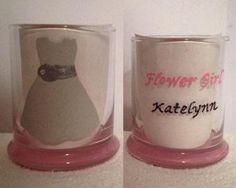 Personalized Wedding Flower Girl Glass