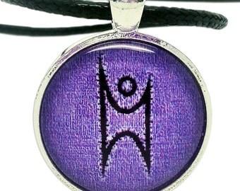Happy Humanist, Purple Pendant Necklace