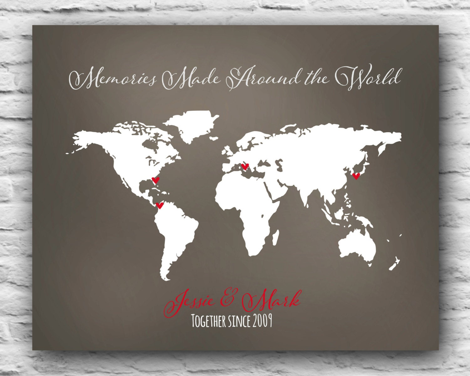 Christmas Gift For Wife Wedding Gift Couple Who Loves To Travel World Traveling Couple
