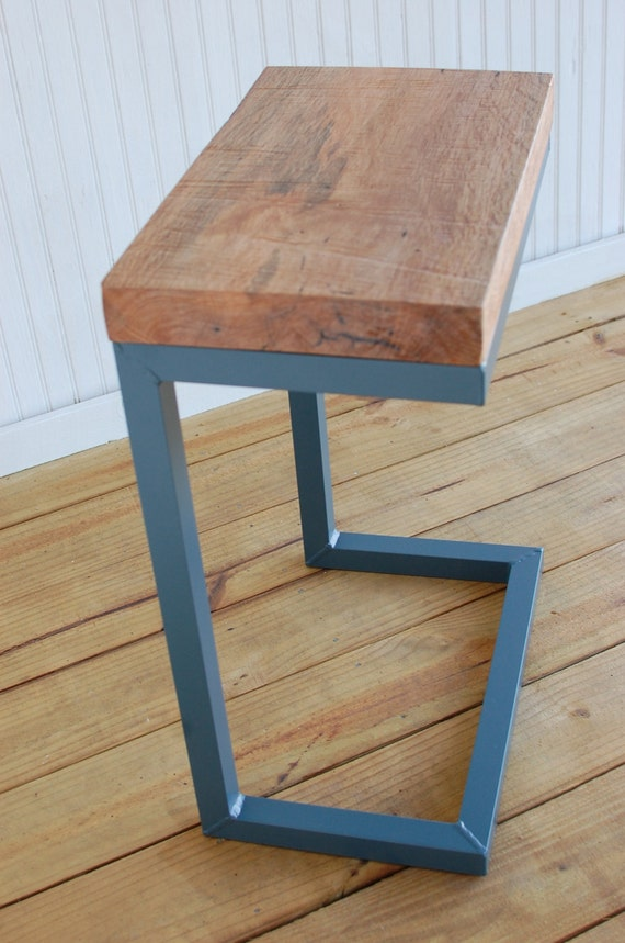 modern c table reclaimed wood furniture by sumsouthernsunshine