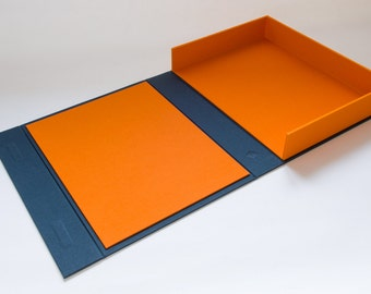 8.5 x 11 Dropback Clamshell Box. Ideal Presentation Box For Designers, Photographers or Artists