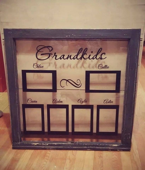 Grandkids Vinyl Decal For Windows And Picture Frames Custom
