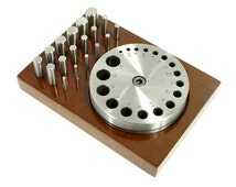 Disc Cutter - Circle - 18 Punches - Wood Base - for Jewelry Making - 28-591