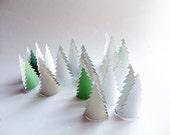 Paper woodland - Christmas placeholder  - Toilet rolls crafts