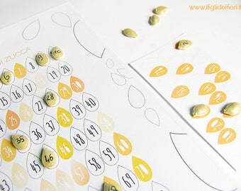 Pumpkin bingo, kids craft, crafty kit, digital file instant download