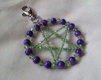 gorgeous pentagram bag charm keyring