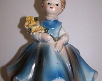 Vintage Napcoware Young Lady Vase Planter Pottery Planter