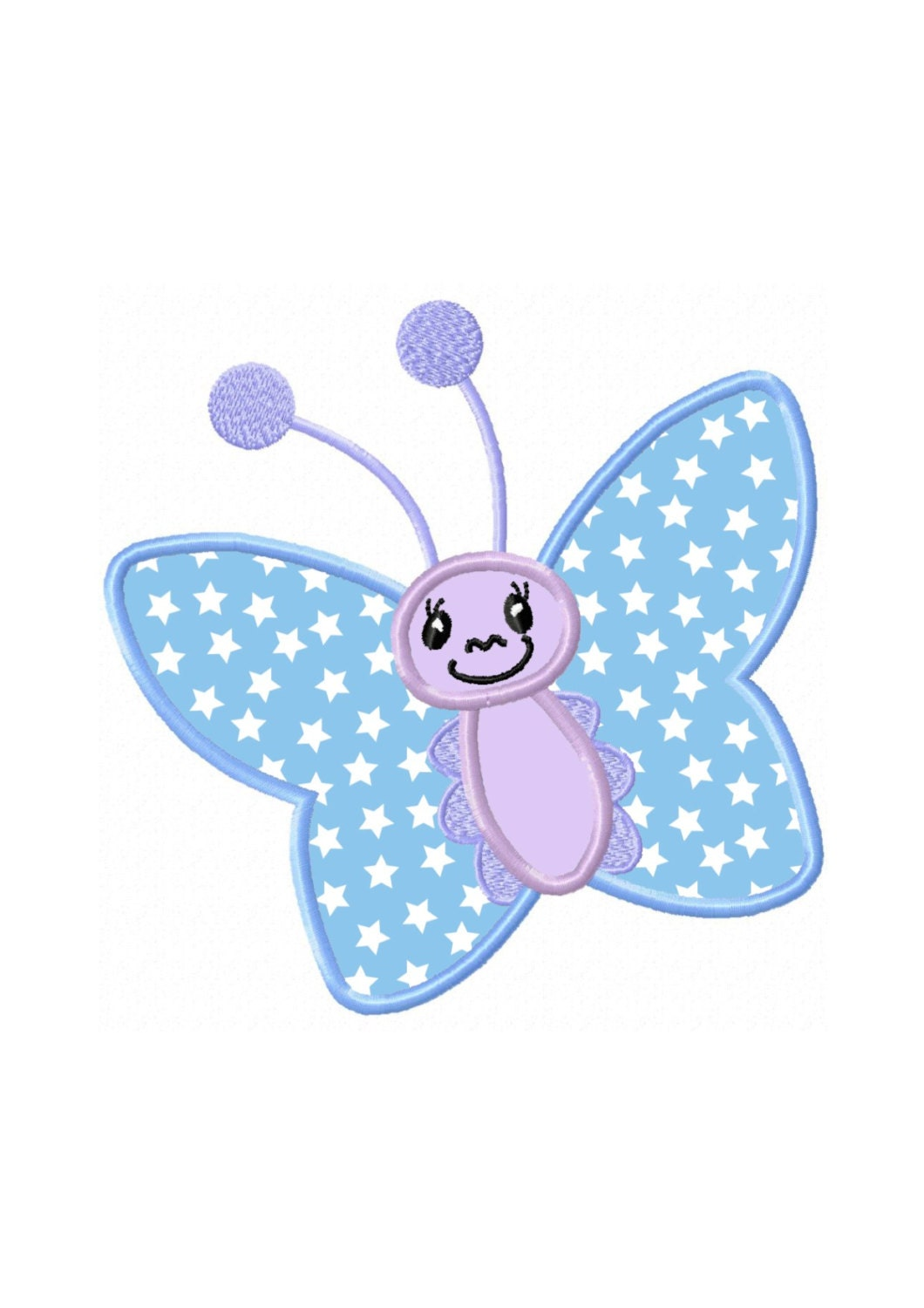 Butterfly applique machine embroidery design n