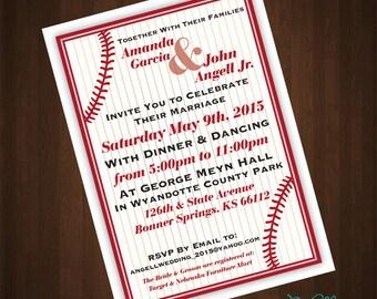 Baseball Themed Wedding Shower Invitation Printable