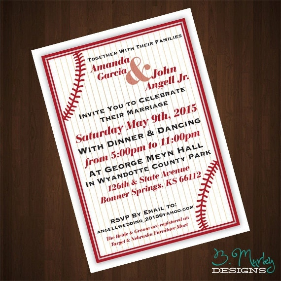 Baseball Wedding Invitations could be nice ideas for your invitation template