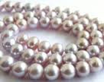 Glass Pearls 4mm - Pale Mauve - Pack 100