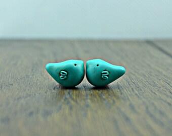 Little Bird Bead, polymer clay bird bead