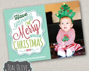 Christmas Card \ Photo Christmas Card \ Merry Christmas \ Holiday Card \ 5x7