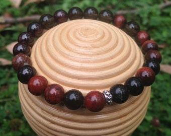 Chakra bracelet , Root Chakra Crystal Healing Bracelet, australian handmade stone bracelet