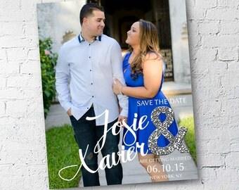 Wedding Save the Date | Glitter & Glam | Digital Download | Custom | 4x6 or 5x7