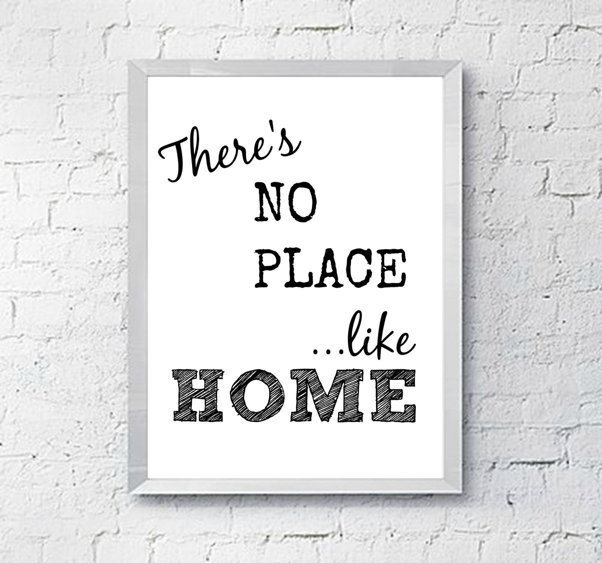 There's No Place Like HOME Printable Wall Art Sign
