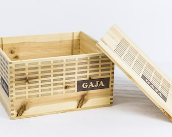Small wine crate etsy for Small wine crates