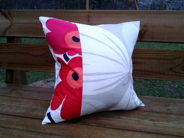 Marimekko Throw Pillow Covers : 18 x 18 Pillow cover made from Marimekko fabric Throw toss