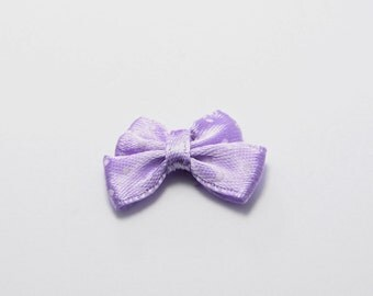 SALE! 20pcs Mini Nylon Ribbon Bows with Polka Dots in Light Purple, Gift Packaging Accessory, Hair Accessory #SD-S6947