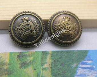 U Pick Handmade Plastic buttons,  Antique Bronze Button Round Button 18mm YTB05
