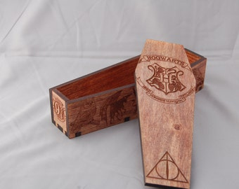Harry Potter coffin shaped box