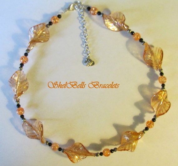 items similar to handmade fall necklace with 2 inch