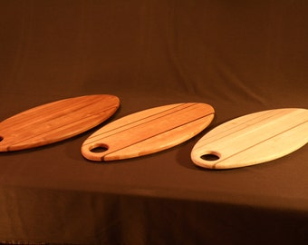 Hand made cutting boards, cherry and walnut.