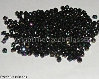1Og CZECH FIREPOLISHED BEADS 3mm 28980/21495