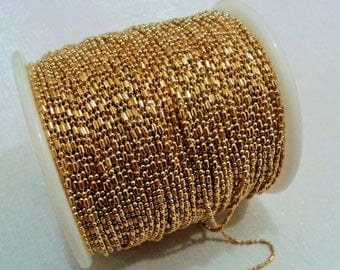 33 Feet -  10 Meter 1.2 mm  Raw Brass Ball Chain -1.2 mm  Ball Chain