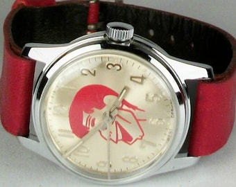 Helbros Retired Wind-Up Jerry Lewis Helbros Watch! HTF!