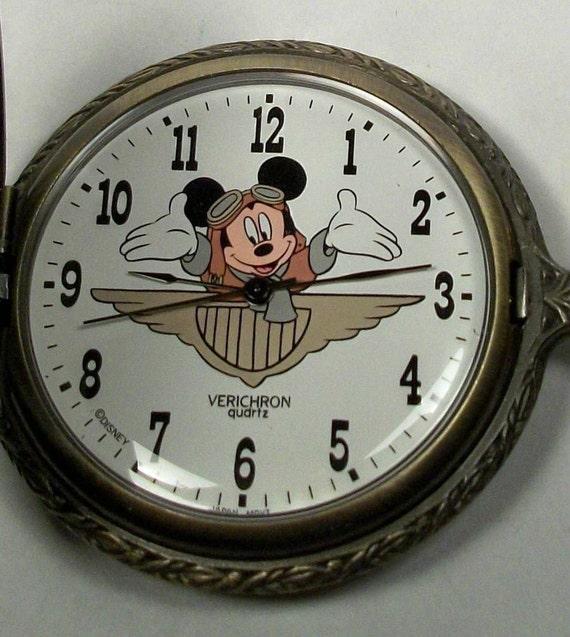 new vintage aviator mickey mouse pocket htf retired