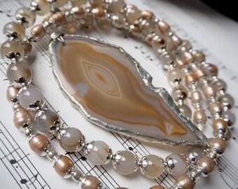 HANSDOTTIR | Jaipur Maharani | Necklace - Pearls + Agate II