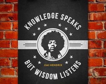 Jimi Hendrix Poster, Home Decor, Gift Idea
