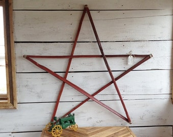 Wood Star, Wooden Star, Wood Wall Art, Primitive Country Star, Wood Wall Hanging, Rustic Home Decor
