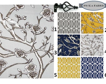 Valance Geometric Valance Bird Valance Dwell Studio Valance Bella Porte Vintage Blossom Valance Twilight Charcoal Citrine Valance ONE
