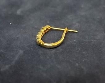 Single Women's Vintage Estate 10K Yellow Gold Hoop Earring .45g E1494