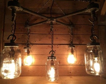 vintage ceiling lighting. hanging kilner mason jars in an u0027xu0027 formation industrial steampunk ceiling light with vintage lighting h