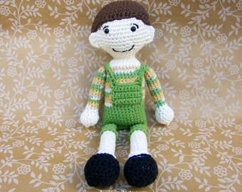 JIMMY Boy Doll // Crocheted Amigurumi // Handmade Doll