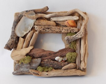 Driftwood Frame, Hills in the Moon, *******Free Shipping