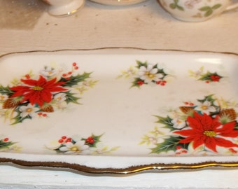 Royal Albert Yuletide Sandwich Tray - Mint Unused Condition