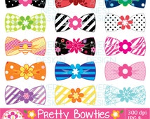 Pretty Bow Ties Clipart / Bow Ties with Flowers / Pretty Bow Ties Clipart set includes 15 Pretty Bow Ties