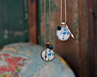 Water Color African Globe Necklace